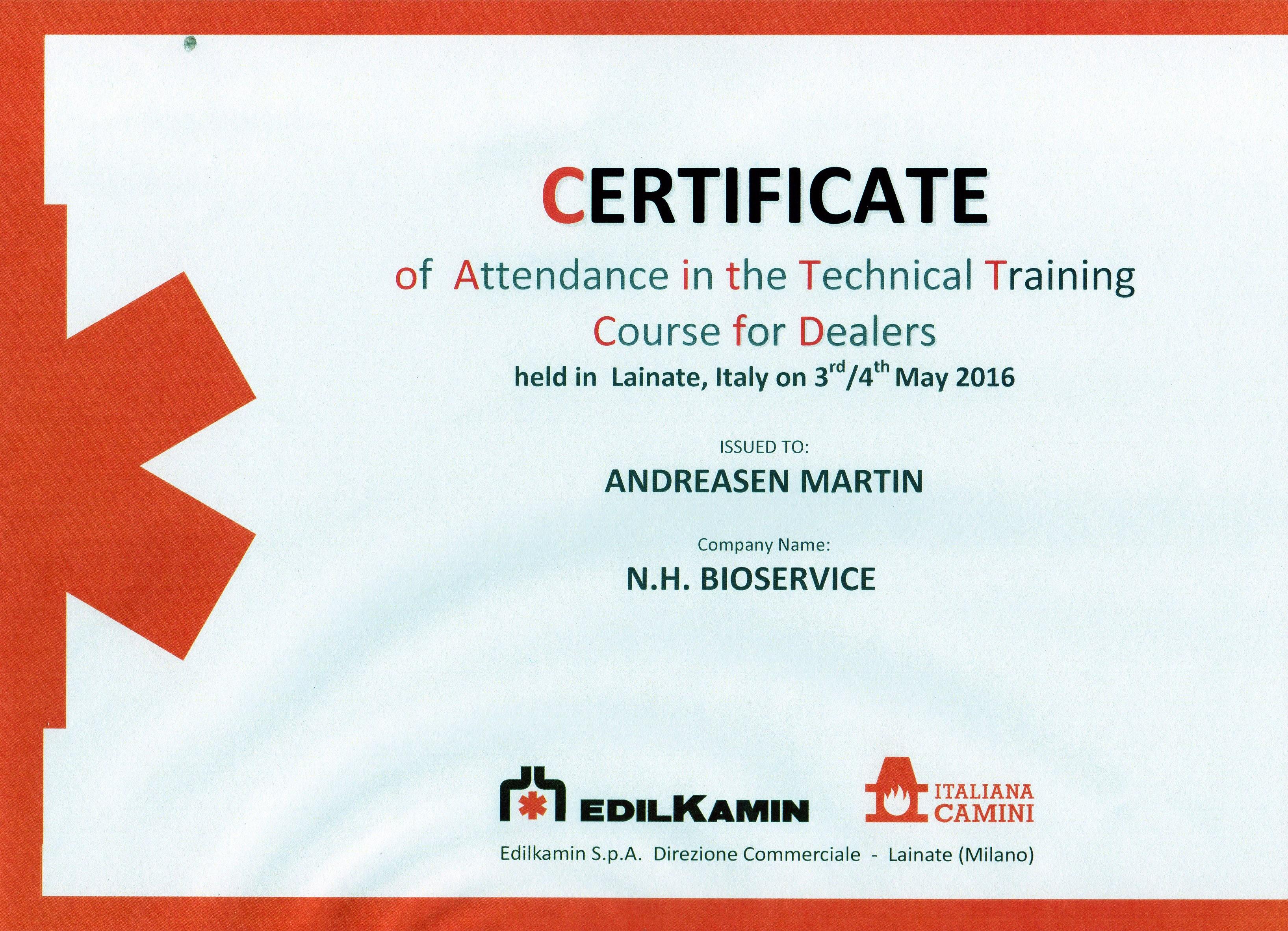 certifikat kurser